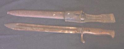 Bayonet, scabbard & frog