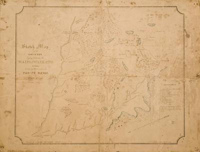 Sketch Map of the Country Lying Between the Waipa and Waikato Rivers Shewing the Maori Positions of Pah Te Rangi and Pikopiko