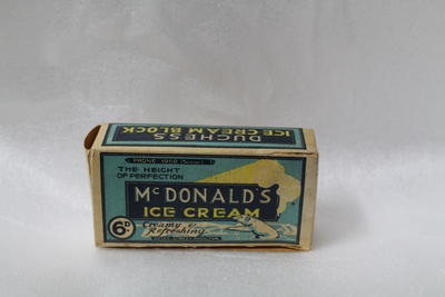 McDonalds icecream box