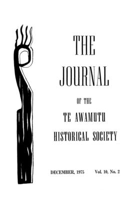 The Journal of the Te Awamutu Historical Society Vol 10, No 2