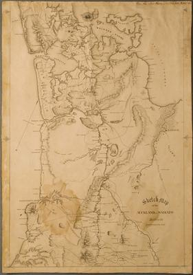 Sketch Map of the Auckland & Waikato Districts