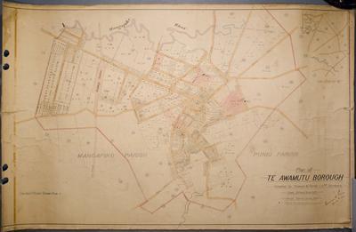 Plan of Te Awamutu Borough