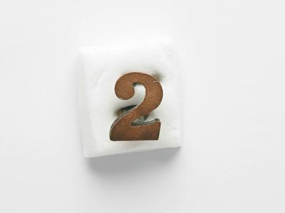 Number 2  badge