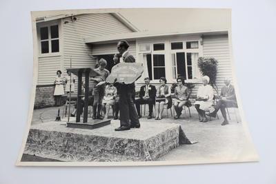 Black and white photograph. Kihikihi School