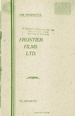 The Prospectus, Frontier Films Ltd