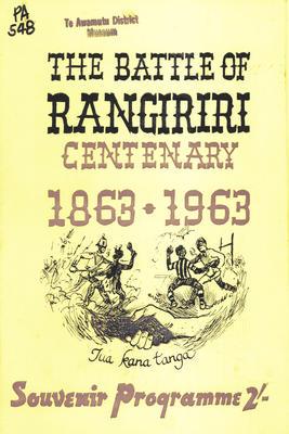 The Battle of Rangiriri Centenary 1863-1963 Souvenir Programme