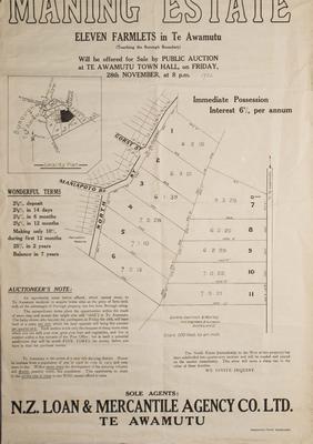 Manning Estate Auction Notice