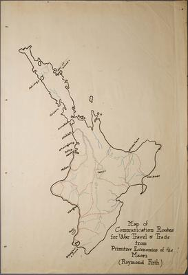 Map of Comunication Routes for War Travel and Trade