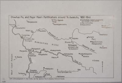 Otawhao Pa and Major Fortifications Around Te Awamutu 1800-1846