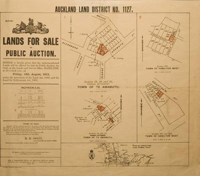 Plan of Teasdale Settlement