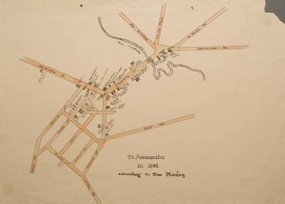 Te Awamutu in 1881 According to Tom Moisley