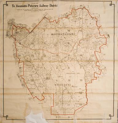 Plan of Te Awamutu - Putaruru Railway District
