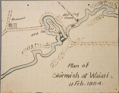 Plan of Skirmish at Waiari