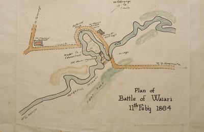 Waiari Plan of 1864 Battle