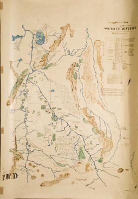 Sketch Map of the Waikato District