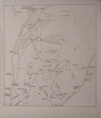 Sketch map of Area between Waipa and Waikato Rivers
