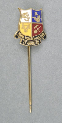 Lapel badge - Waipa Workingmen's Club
