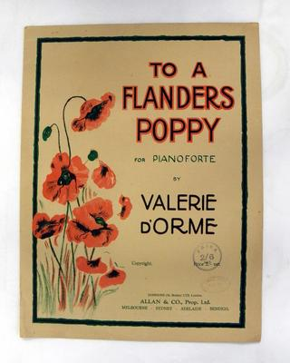 Music score - To a Flanders poppy