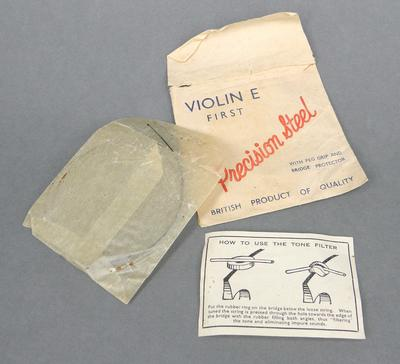 Violin string in paper pocket