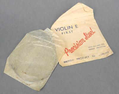Violin string in paper pocket
