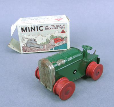 Toy tractor and box