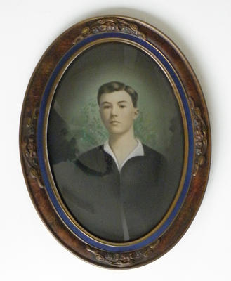 Framed painting of Victor John Hall