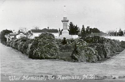 War Memorial, Te Awamutu