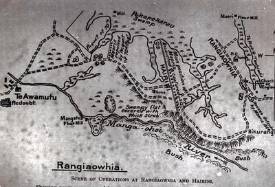 Photograph of Rangiaowhia Map