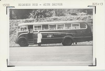 Hodgson Bus with driver