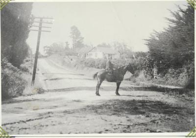 Trevor Hinton on horseback