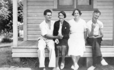 Ernie Holmes, Joan Mum, and Trevor Maitland