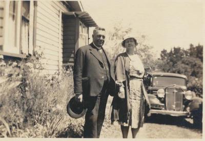 Bishop Bennet and Mrs. J.F. Brooks