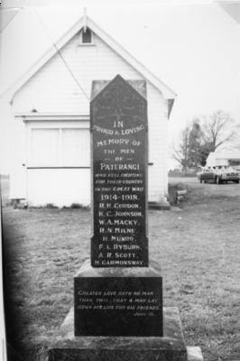 Paterangi War Memorial