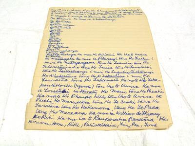 Family papers- whakapapa