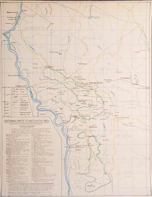 Centennial Map of Te Waotu in the 1880s