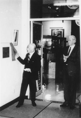 Unveiling Gifford Plaque