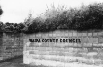 Waipa County Council Sign