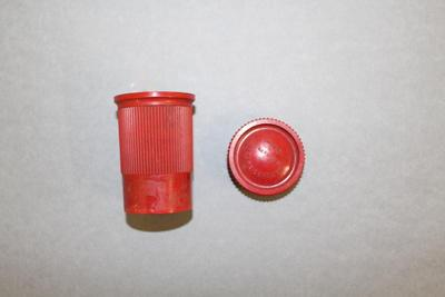 Waterproof Match Holder with Screw Lid and Ribbon of Matches