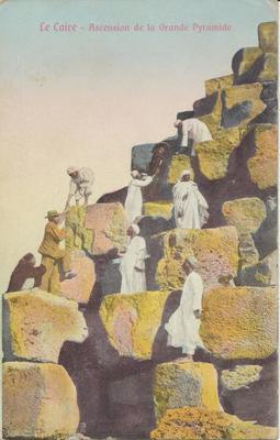 Le Caire- Ascension de la Grande Pyramide