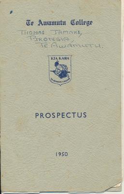 Te Awamutu College Prospectus