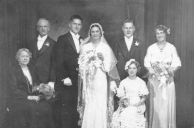 George and Edna Bingon Wedding
