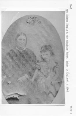 Mrs. Thirza Temple and Sarah Temple