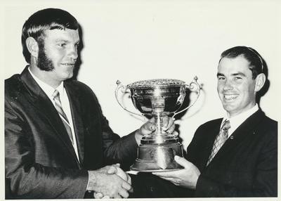 Presentation of Allen Smith Memorial Cup, Y.F.C. (TAW)
