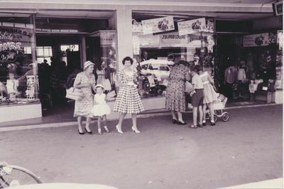 Shoppers Outside Moana Rose